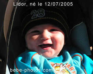 photo de bébé Lidor