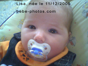 photo de bébé Lisa