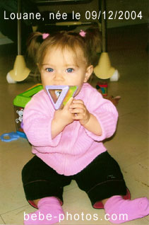 photo de bébé Louane